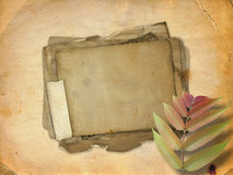 Abstract ancient brown background with paper Stock Photo