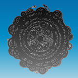 Abstract ancient circle design background Royalty Free Stock Photo