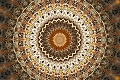 Abstract ancient ornament in brown, mandala, kaleidoscope Royalty Free Stock Photography