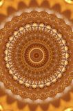 Abstract ancient ornament in brown, mandala, kaleidoscope Stock Images