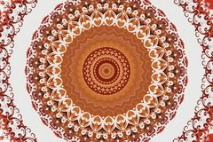 Abstract ancient ornament in brown and white color Royalty Free Stock Photography