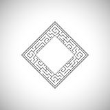 Abstract ancient square frame. Vector abstract ancient square frame royalty free illustration