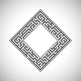 Abstract ancient square frame. Vector abstract ancient square frame stock illustration