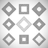 Abstract ancient square frames. Royalty Free Stock Images