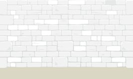 Abstract ancient white brick block wall. Abstract ancient white bricks blocks wall texture background. Vector illustration royalty free illustration