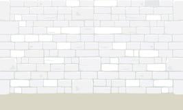 Abstract ancient white brick block wall. Abstract ancient white bricks blocks wall texture background. Vector illustration Royalty Free Illustration
