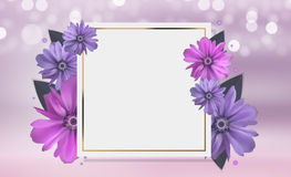 Abstract Anemone Flower Realistic Vector Frame Background Royalty Free Stock Photo