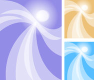 Abstract Angel Dancer/eps. Abstract illustration of an angel or spirit dancer glowing against a variety of background colors royalty free illustration