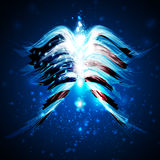 Abstract angel wings with american flag Royalty Free Stock Image