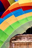 An Abstract Angle of a Colorful Hot Air Balloon stock image