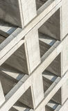 Abstract angle of a parking garage. Royalty Free Stock Photo