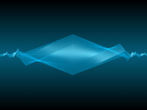 Abstract angle wave. Blue vector background royalty free illustration
