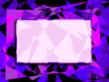 Abstract Angles Background. Graphic illustration of abstract background with shades of purple and pink against a black background with blank text area Stock Image