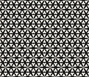 Abstract angles figures, repeat tiles, triangular grid. Vector monochrome seamless pattern, geometric texture, black & white simple abstract angles figures Royalty Free Stock Images