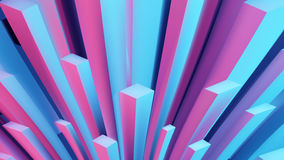 Abstract angular  3d background. Bright illustration. Cubes distortion. Web banner Stock Image