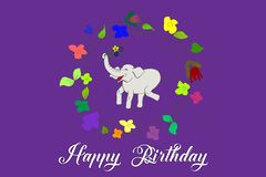 Happy birthday card. Abstract,animal,art,baby,background,birthday,blank,business,card,cartoon,celebration,color,colorful,decoration,design,floral,flower,frame vector illustration
