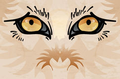 Abstract animal face with eyes. Detail of abstract wild animal face with eyes - vector illustration royalty free illustration
