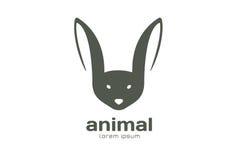 Abstract animal face logo  template. Rabbit. Bat mascot. Rabbit logo. Bat logo. Rabbits, wild animals world, brand symbol, wild icon or farm. Rabbit. Animal Royalty Free Stock Image