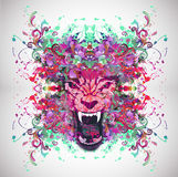 Abstract animal face. Abstract animal wolf face background Vector Illustration
