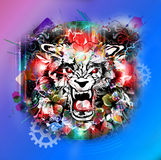 Abstract animal face. Abstract animal  wolf face background Royalty Free Stock Image