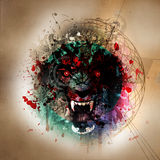 Abstract animal face. Abstract animal  wolf face background Royalty Free Stock Images