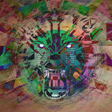 Abstract animal face. Abstract animal wolf face background royalty free illustration