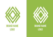 Abstract animal logo. Green color abstract logo brand name n stock illustration