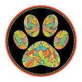 Abstract animal paw print. Vector illustration of abstract animal paw print Stock Images