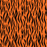 Abstract animal print. Seamless vector pattern with tiger stripe. S. Textile repeating tiger fur background Stock Photos