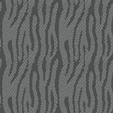 Abstract animal print. Seamless vector pattern with zebra/tiger. Stripes. Textile repeating animal fur background. Halftone stripes endless bachground Royalty Free Stock Image