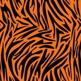Abstract animal skin pattern. Zebra, tiger stripes. Royalty Free Stock Photos