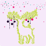 Abstract animal wallpaper. Cute little rain deer wallpaper design Royalty Free Illustration