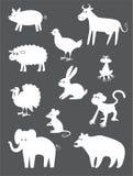 Abstract animals Royalty Free Stock Photos
