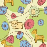 Abstract Animals Pattern SEAMLESS Royalty Free Stock Photo