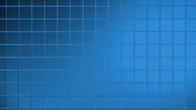 Abstract animated blue computer background. Screen saver with rotating rectangles 3D render with directional light source effect stock illustration