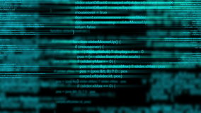 Abstract animated computer programming code as technology background. stock illustration