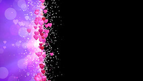 Frame of Hearts Abstract Animated Looping stock footage