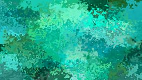 Animated stained background seamless loop video - watercolor effect - emerald green, cobalt, teal and pine color