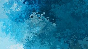 Animated twinkling stained background seamless loop video - watercolor splotch effect - ocean water teal blue color