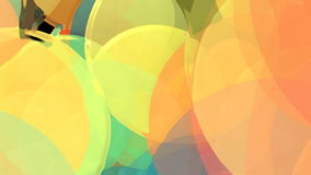 Abstract animation with colored circles stock video footage
