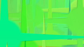 Abstract animation with colored circles with rays stock footage
