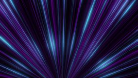 Abstract animation of equal colorful neon rays motion in neon tunnel. Colorful abstraction. Abstract animation of equal colorful neon rays motion in neon tunnel stock illustration