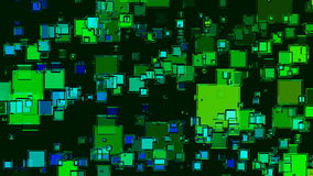 Abstract animation with green squares stock video