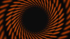 Abstract animation of hypnotizing black and orange striped tunnel on the black background. Animation. Colorful animation. Abstract animation of hypnotizing black vector illustration