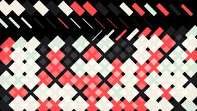 Abstract animation of multicolored geometric patterns appearing and disappearing one by one on the black background royalty free illustration