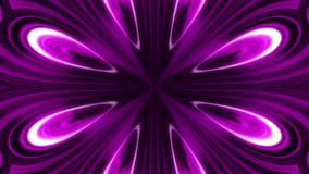 Abstract animation of purple and black flower kaleidoscope. Abstract multicolored motion graphics background. stock illustration