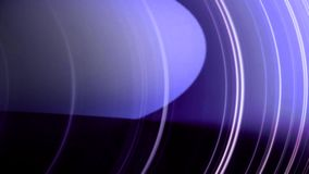Abstract animation of white lines moving in circles on a purple background. Circles animation. vector illustration