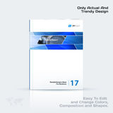 Abstract annual report, business vector template. Brochure desig. N, cover modern layout, flyer in A4 with blue rectangles and diagonal shapes for tech, science vector illustration