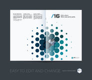 Abstract annual report, business vector template. Brochure desig. N, cover modern layout, flyer in A4 with colourful geometric shapes for tech, science, finance royalty free illustration