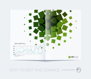 Abstract annual report, business vector template. Brochure desig. N, cover modern layout, flyer in A4 with colourful geometric shapes for tech, science, finance stock illustration